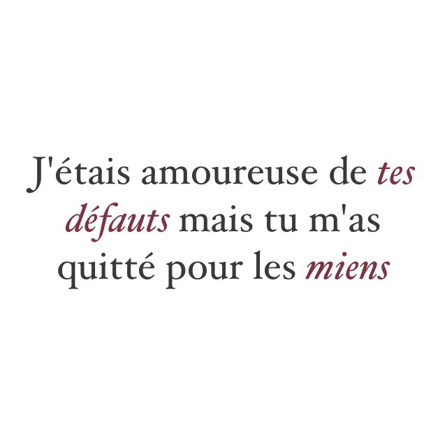 Amour Citation Cite Couple French Image 4012095 By