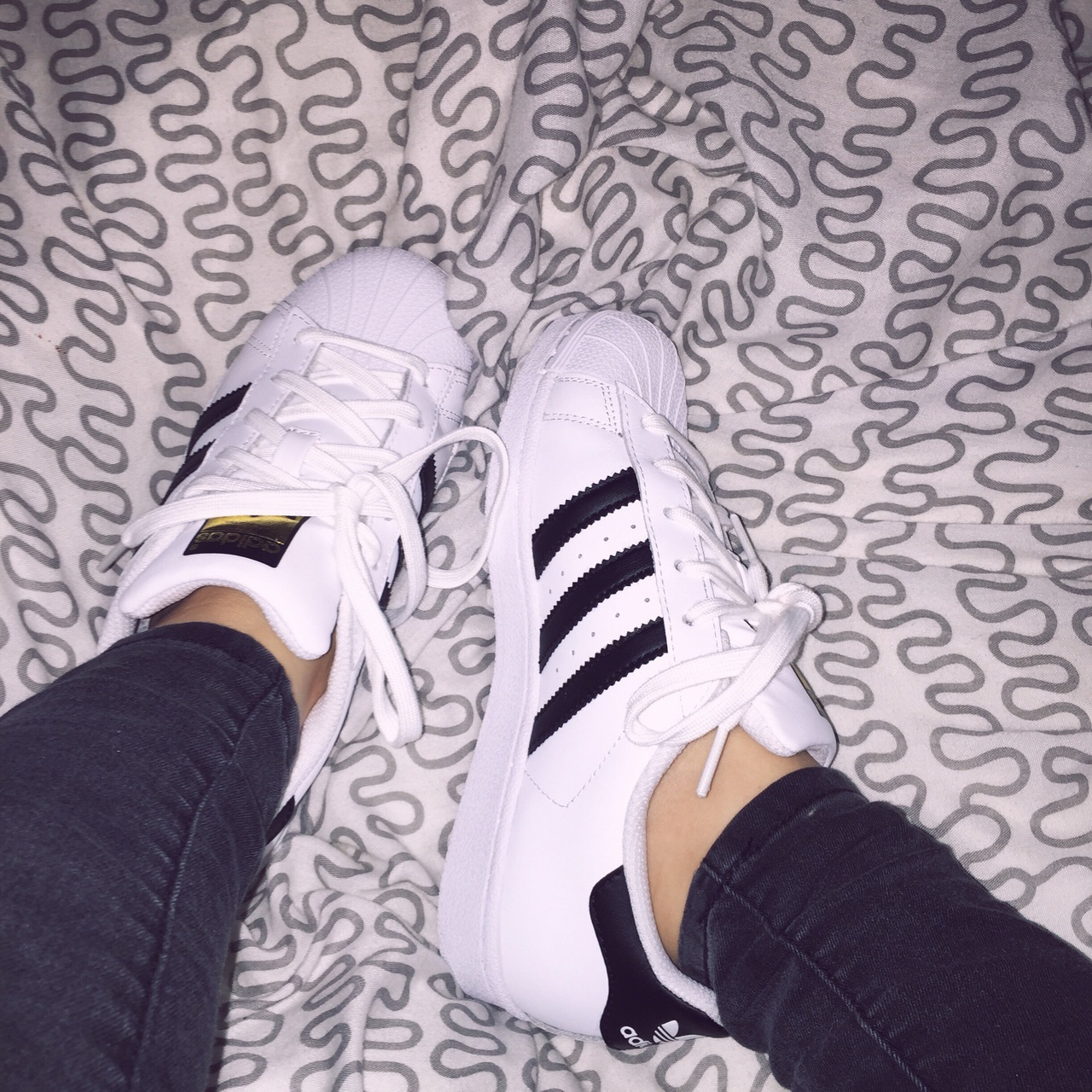 size 40 ee155 77457 adidas, aesthetic, bed, black, black jeans