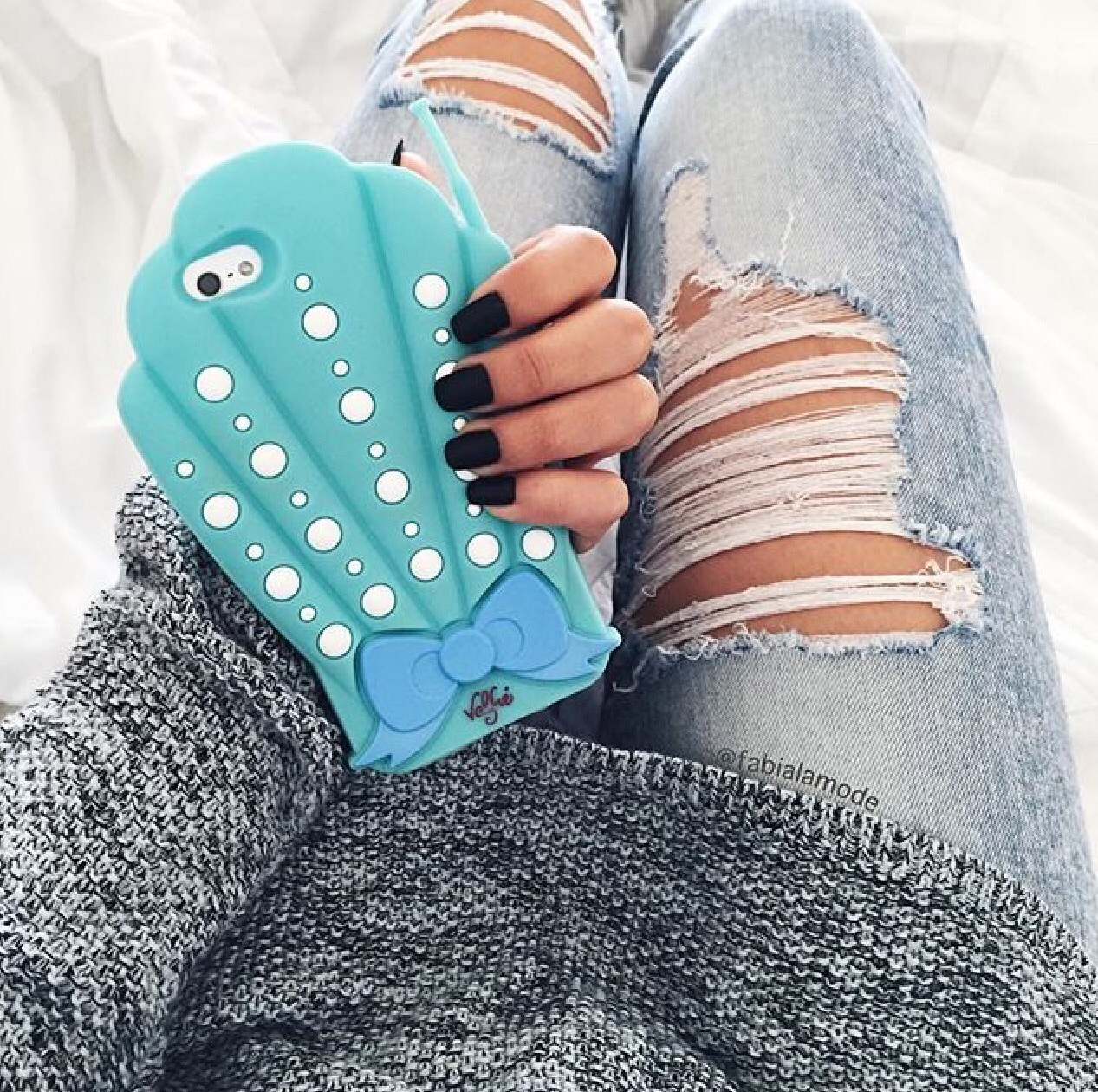 black, blue, case, cases, cute, denim, fashion, grey, indie, inspiration, inspo, iphone, jeans, mermaid, nails, outfit, phone, style, tech, valfre