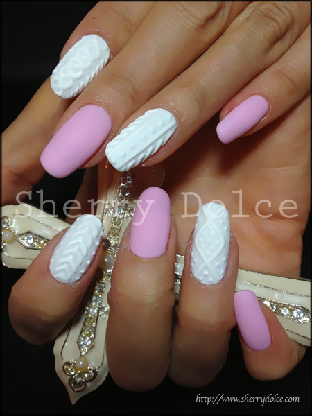 accessories, fashion, fit, girl, gold, hands, knit, love, manicure, nails, pink, purple, sweater, texture, white