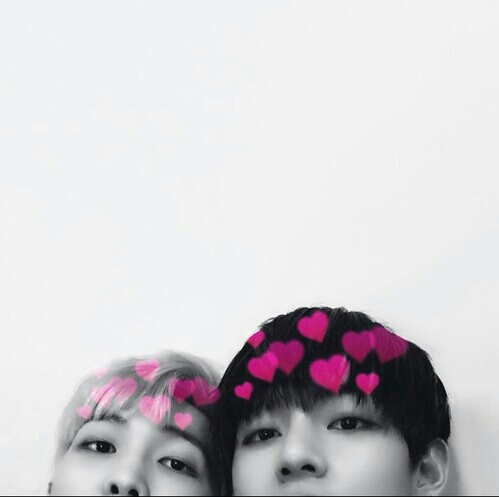 bts, grunge, photobooth, rap monster, taehyung, namjoon, vmon, kpop hearts