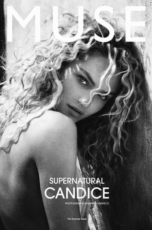 beauty, black and white, candice swanepoel, candice swanpoel, cover, curly, fashion, fashion show, girl, hairstyle, magazine, make up, model, outfit, style, victorias secret, vs