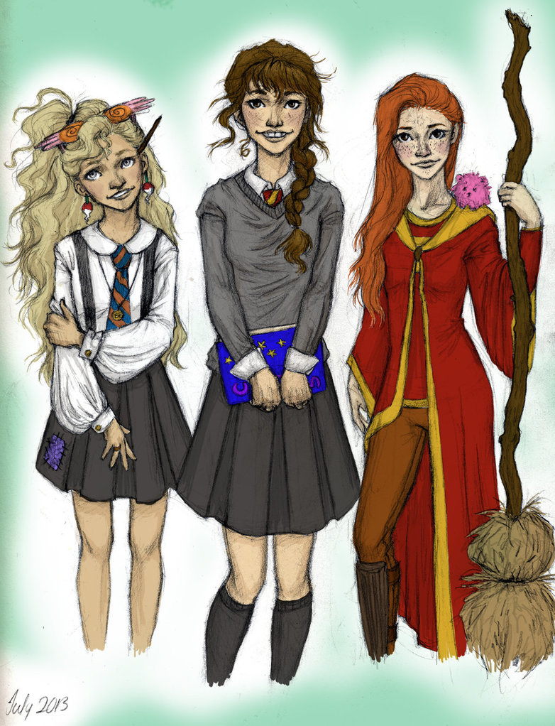 Harry Potter Girls By Meabhdeloughry On Deviantart Image