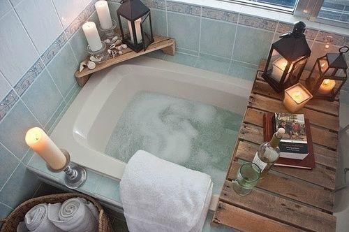 bathtub, candles, cozy, girly stuff, girly things, nice things, relax, romance, romantic, warm and cozy
