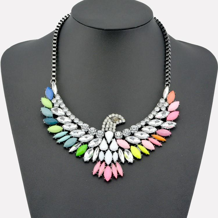 accessories, beautiful, colorful, eagle, fashion, girl, necklace, rhinestone, style, Characteristic
