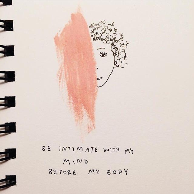 aesthetic, art, body, drawings, grunge, intimate, love, mind, pink, quote, quotes, thoughts, tumblr, words