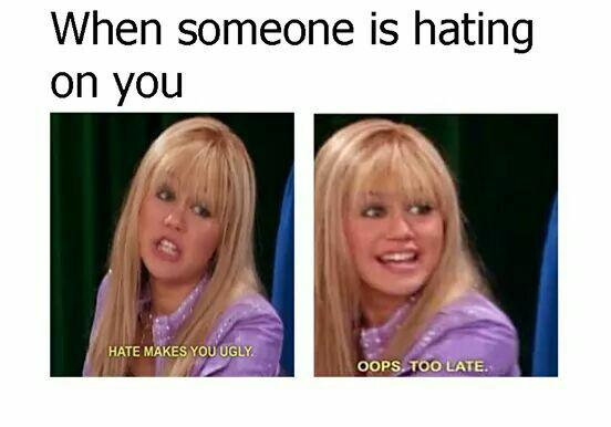 funny, hannah montana, hate and ugly