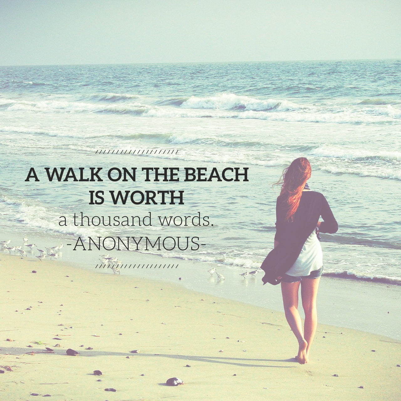 beach, easel, font, girl, ocean, phrases, qotd, quotes, sand, sayings, summer, text, thoughts, typography, walk, wallpaper, water, waves, words, easel app, made with easel, a thousand words