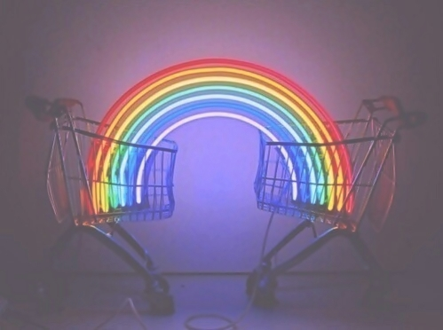 art, bright, city, color, colors, colour, colours, cool kids, grunge, indie, joy, light, lights, lovely, modern art, neon, neon lights, night, party, rainbow, rainbows, shine, shining, shiny, urban, whatever, rainbow connection