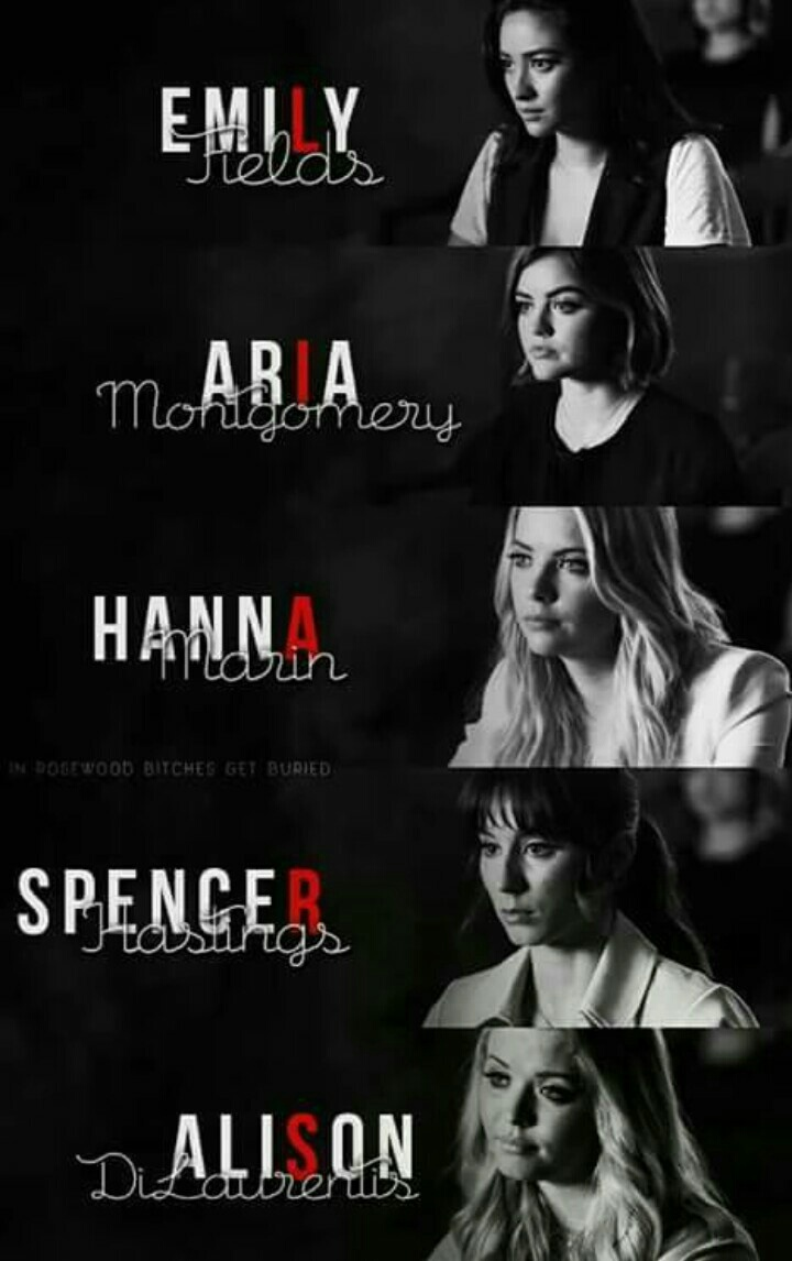 alison, aria, art and ashley benson