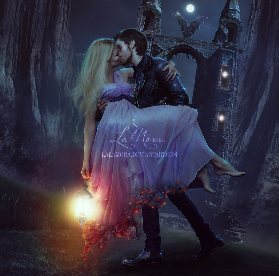 art, captain hook, deviantart, emma swan, killian jones, captainswan, lalamora
