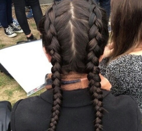 cheveux, marron, hair, brune, braided