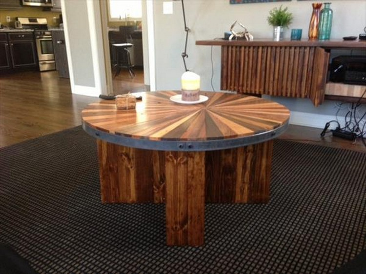 Diy Round Coffee Table Plans 11