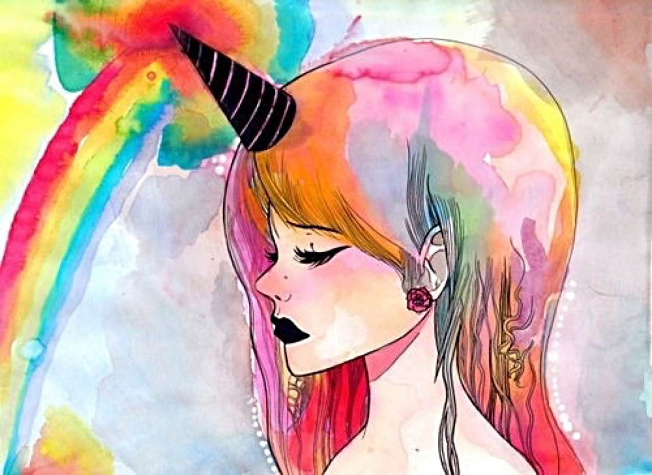 awesome, unicorn, art, magical, indie