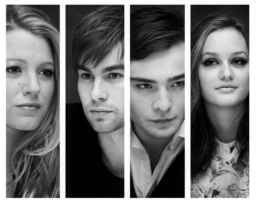 serena, chuck bass, ed westwick, nate archibald, black and white