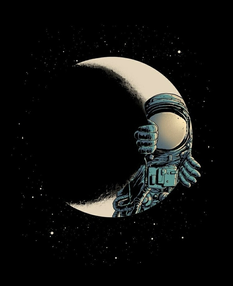 background, astronaut, stars, illustration, art