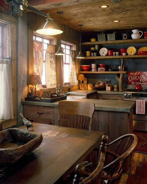 Rustic boho country kitchen image 4288205 by for Life size kitchen set