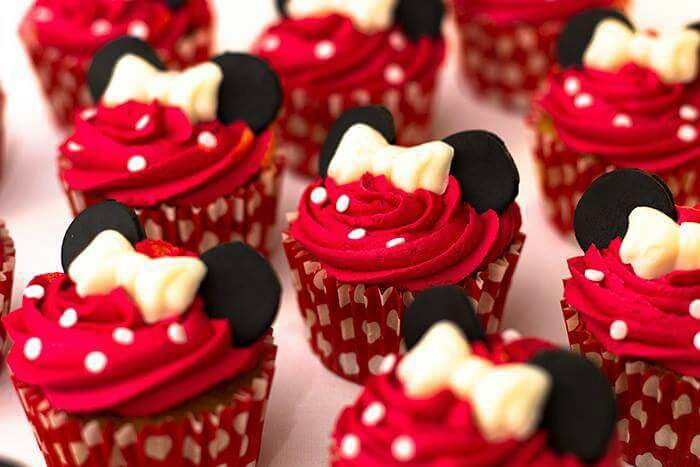 minnie, mouse, sweet, food, muffin