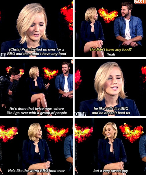 jennifer lawrence, chris pratt, funny