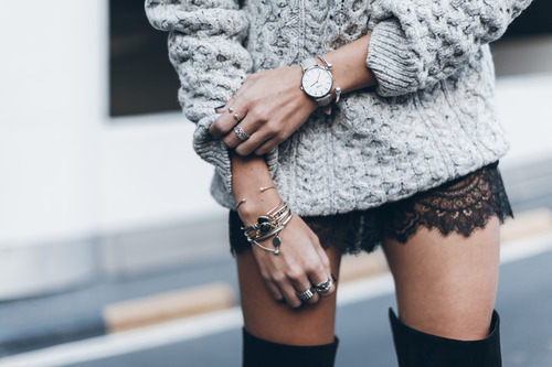 black, clothing, sweater, girly, watch