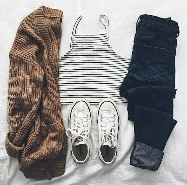 black, boyfriend, brown, cardigan, converse