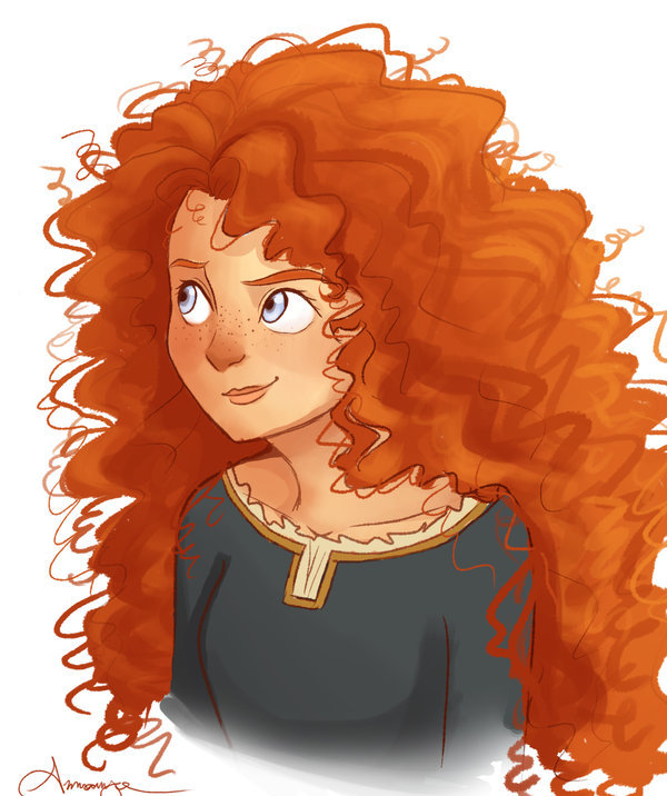 disney, disney princess, illustration, merida, princess
