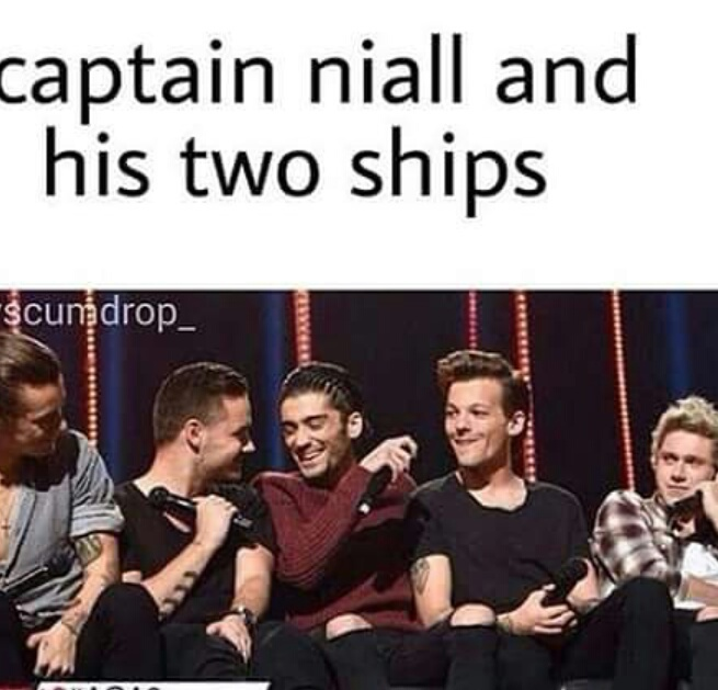 larry stylinson, one direction, ziam mayne, captain niall, two ships