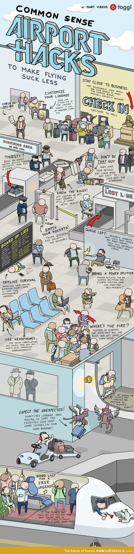 airport, flying, funny, humor, less