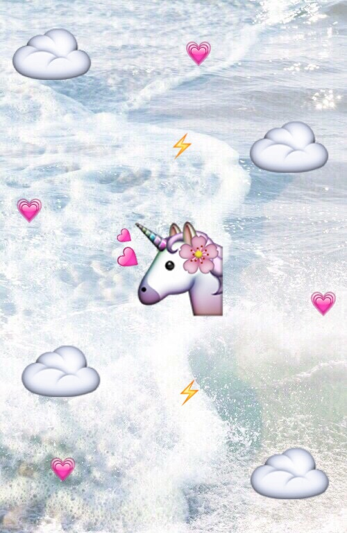 background, emoji, iphone, unicorn, wallpaper , image