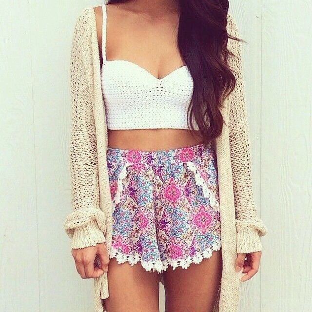 beauty, bralette, cardigan, clothes, cute