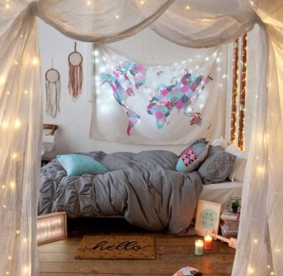 awesome, beautiful, bed, candle, colorful