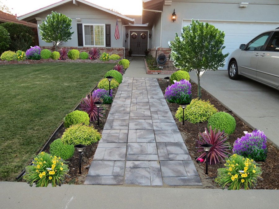 Front Yard Landscaping Ideas Diy Home Decor Image 4513530 On