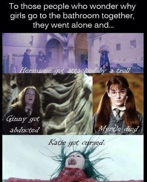 Funny Harry Potter And Hermione Memes : I told my coach this when had to go the bathroom and