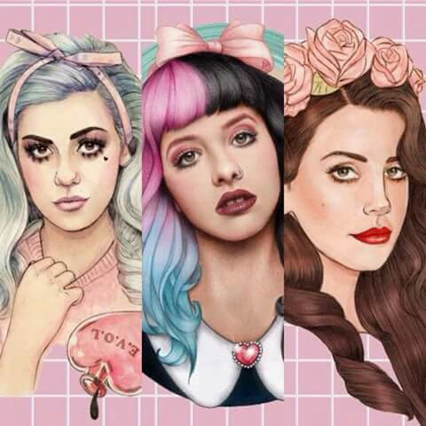 so cute marina diamandis melanie martinez and lana del