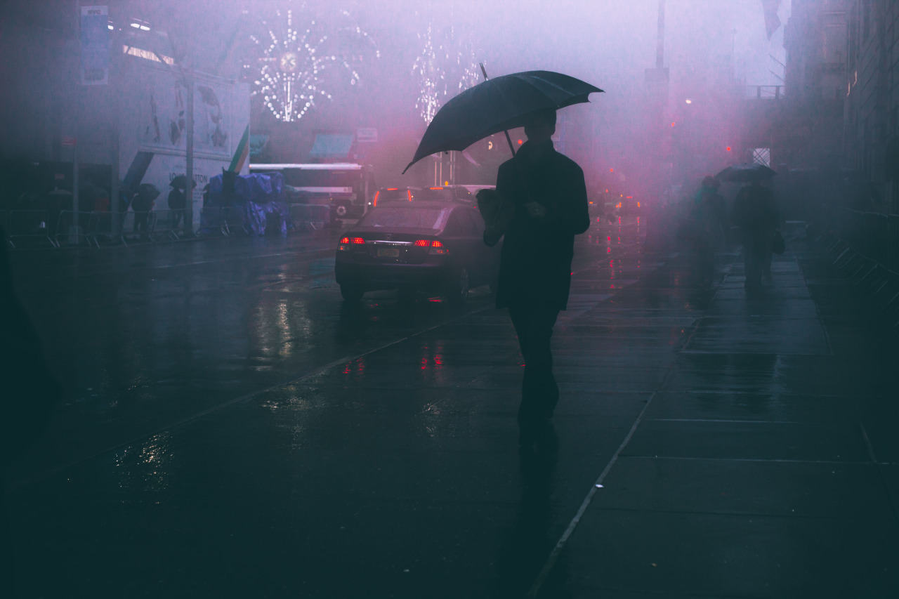 america, city, fog, nyc, rain