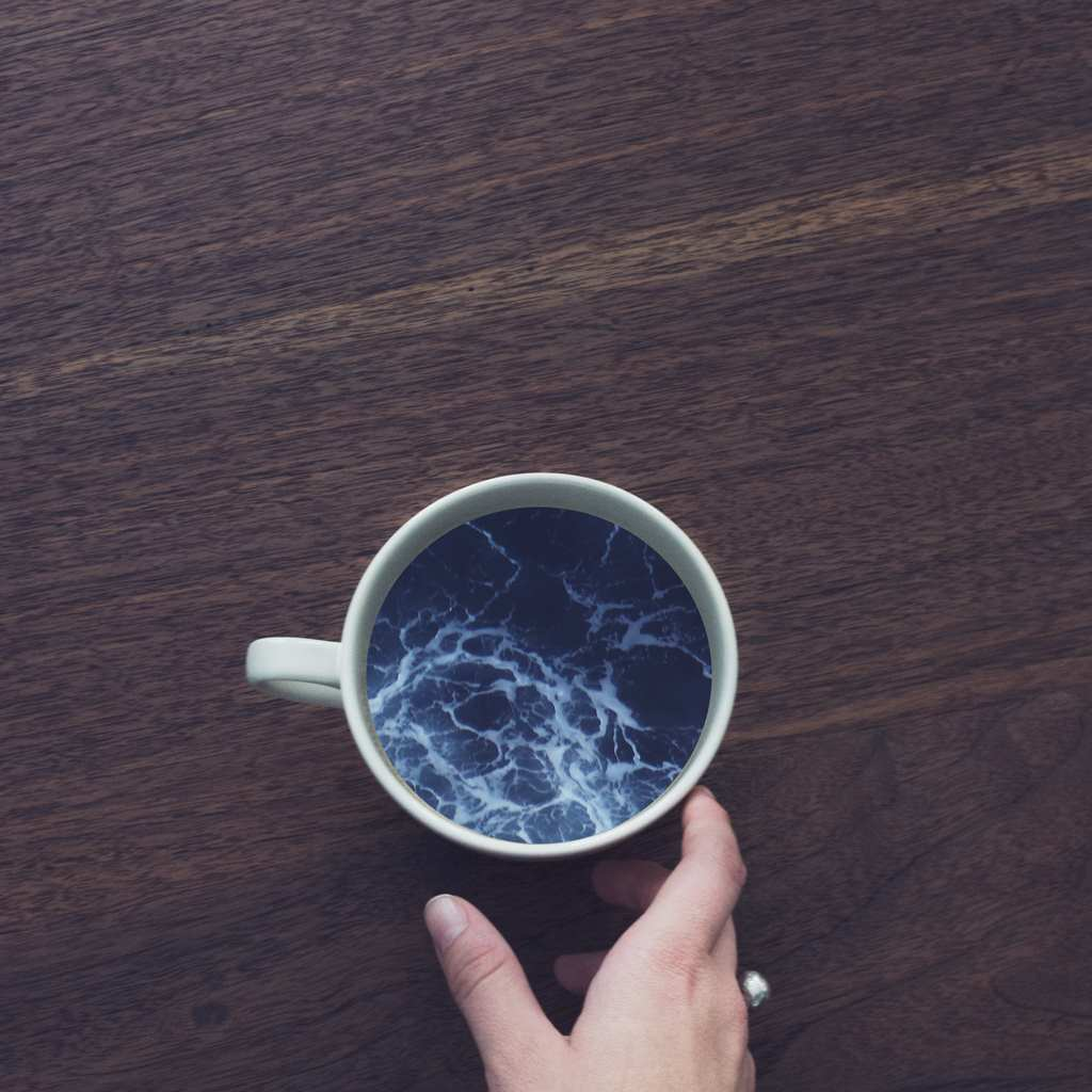 aesthetic, art, blue, coffee, cup