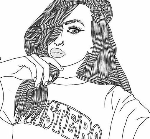 black, black and white, cool, drawings, outlines
