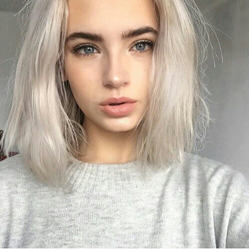 beautiful, cool, girl, white, white hair