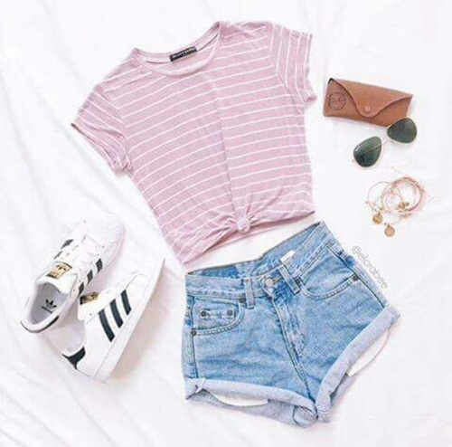Adidas Outfit Sunglasses White And Black Pink Or