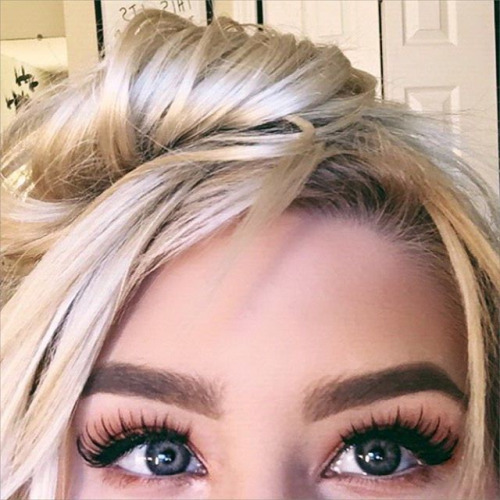 beauty, blonde, bun, eyebrows, eyes