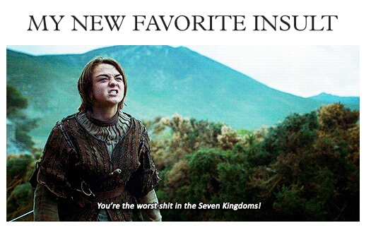 adorable, arya stark, funny, game of thrones, got