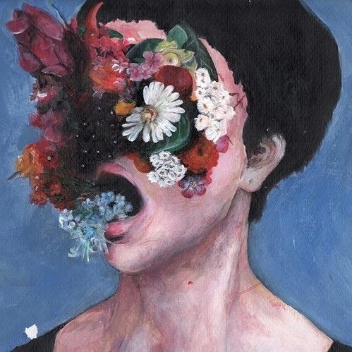 aesthetic, art, blue, flowers, human - image #4574970 by ...