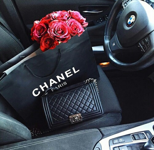 bmw, chanel, fashion, flowers, girl