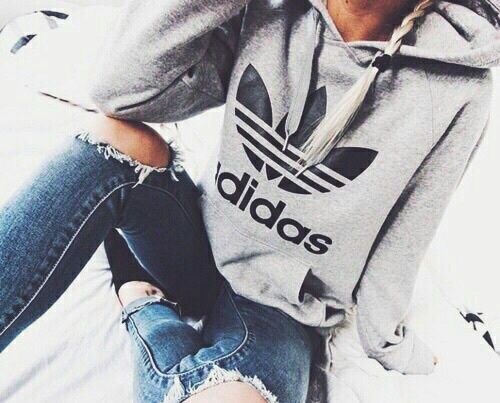Adidas Fashion Girl Jeans Outfit Image 4602875 By Lucialin On