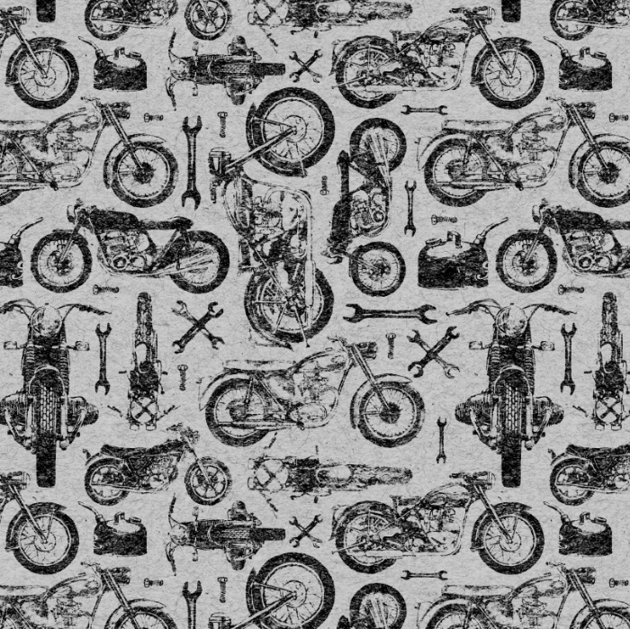 background, black and white, motorcycle, pattern