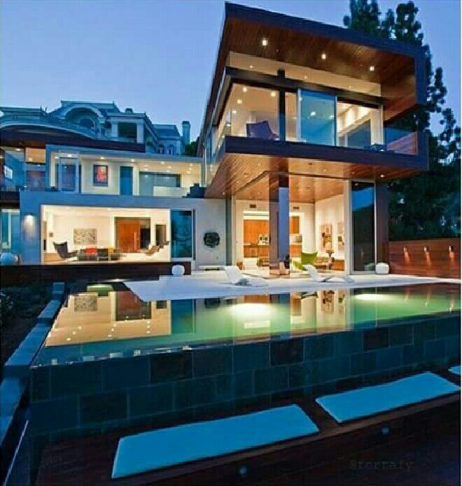 goals, house, luxury, mansion, pool