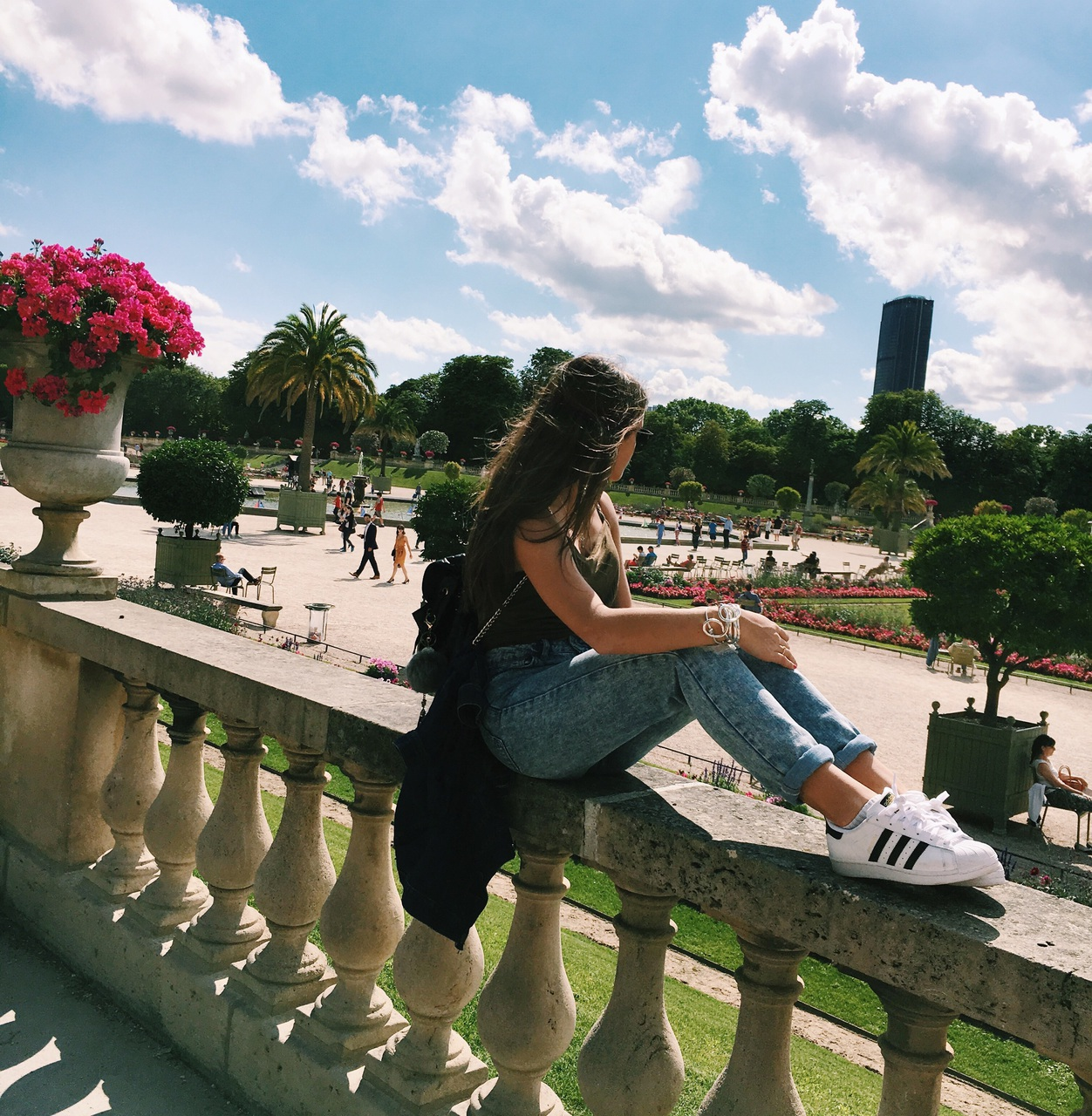 adidas, fashion, flowers, girl, jeans