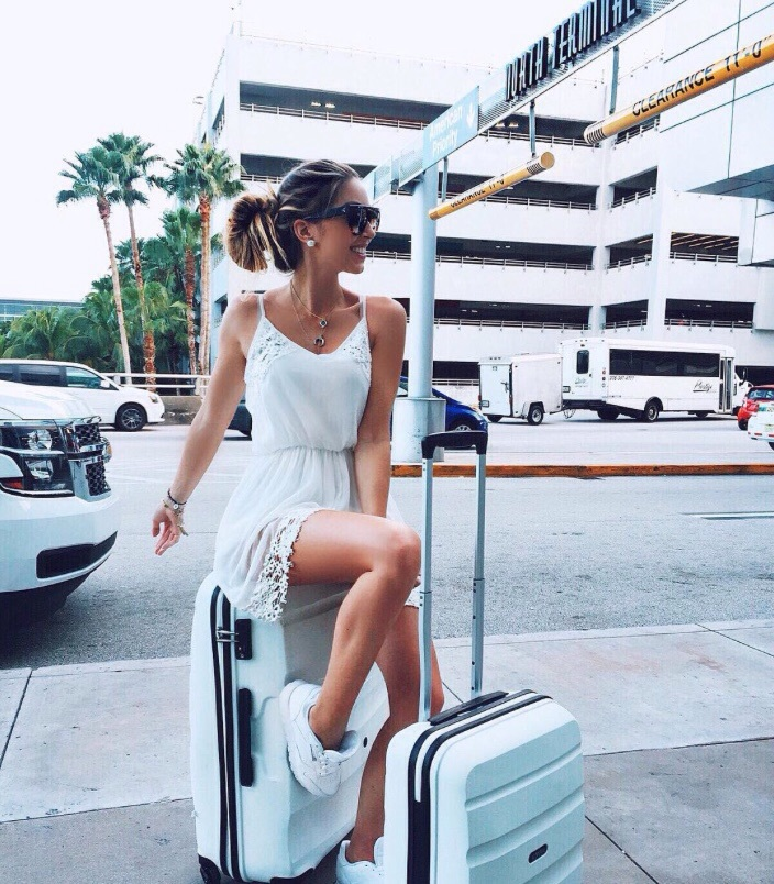 airport, beautiful, bun, car, dress