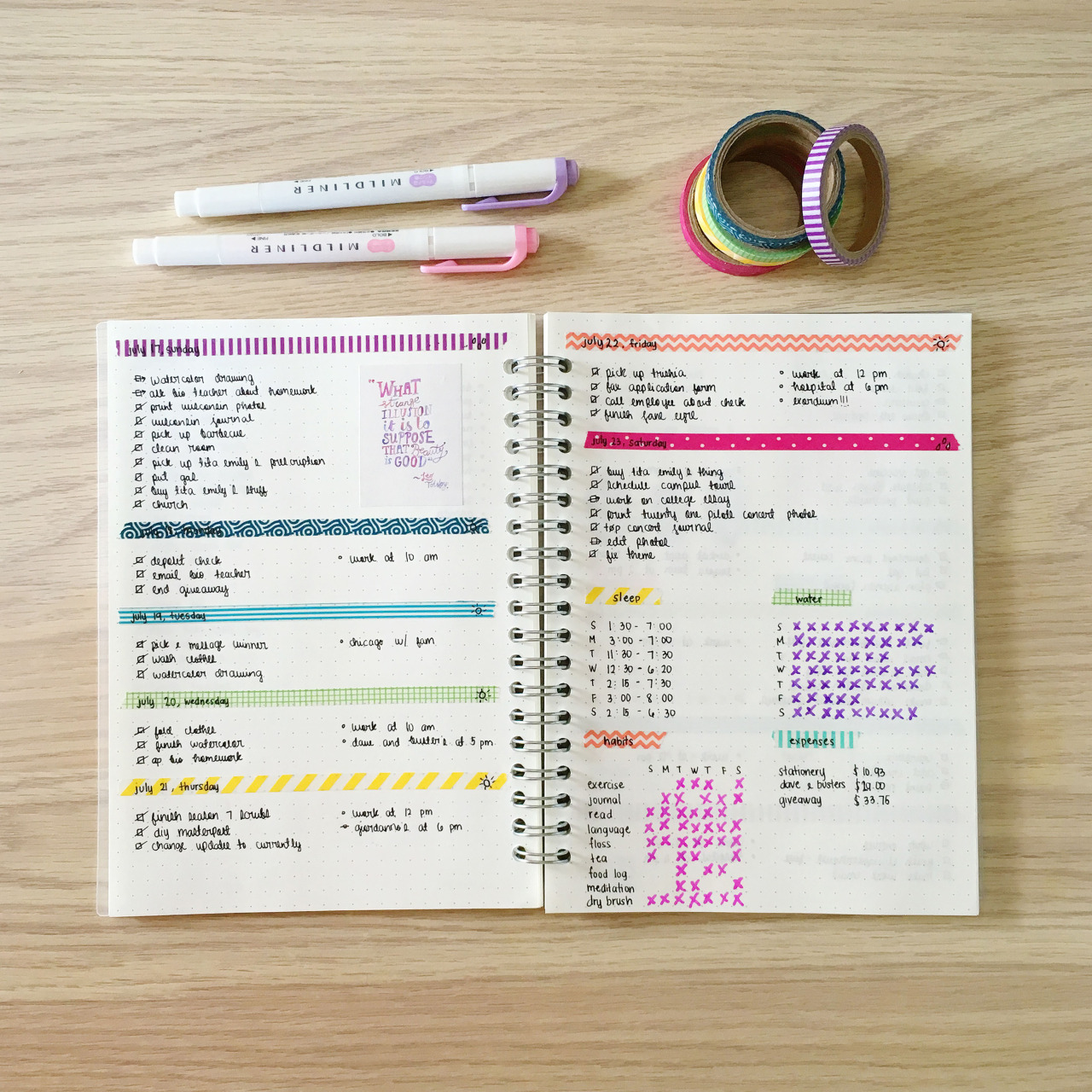 colorful, cute, handwriting, inspiration, journal