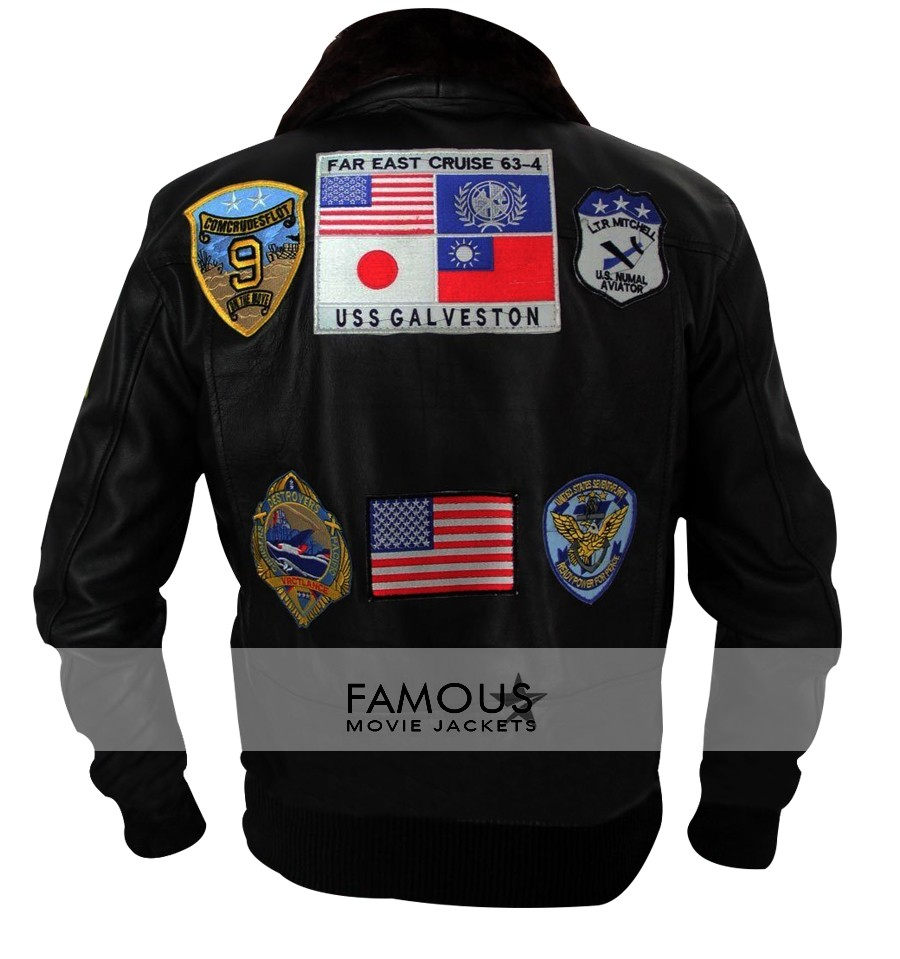 maverick, tom cruise, top gun, famous movie jackets, Fur